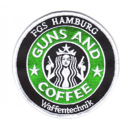 "Patch - F220 Fregatte HAMBURG ""Waffentechnik"" GUNS AND COFFEE"