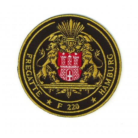 Patch - F220 Fregatte HAMBURG gold